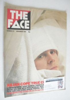 The Face magazine - Julian Cope cover (November 1981 - Issue 19)
