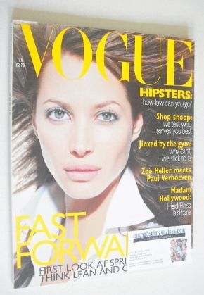 <!--1996-01-->British Vogue magazine - January 1996 - Christy Turlington co