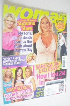 Woman magazine - Vanessa Feltz cover (23 July 2007)
