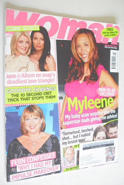 <!--2007-05-28-->Woman magazine - Myleene Klass cover (28 May 2007)