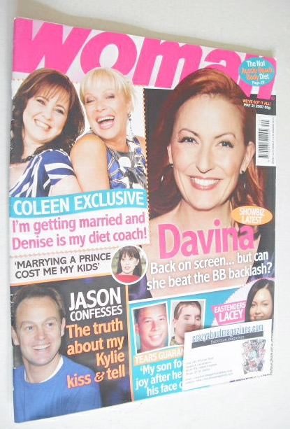 <!--2007-05-21-->Woman magazine - Davina McCall cover (21 May 2007)