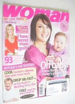Woman magazine - Emma Barton cover (19 March 2007)