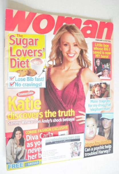 <!--2007-02-05-->Woman magazine - Sammy Winward cover (5 February 2007)