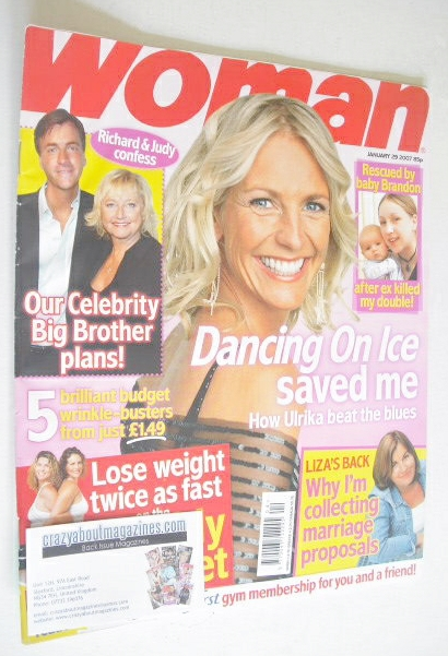 <!--2007-01-29-->Woman magazine - Ulrika Jonsson cover (29 January 2007)