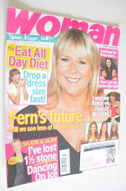 <!--2007-01-22-->Woman magazine - Fern Britton cover (22 January 2007)