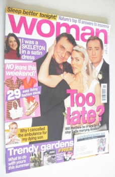 Woman magazine - Ray Coulthard, Matt Healy and Patsy Kensit cover (20 March 2006)