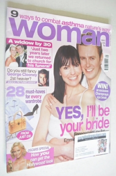 Woman magazine - Tom Lister and Lucy Pargeter cover (6 March 2006)