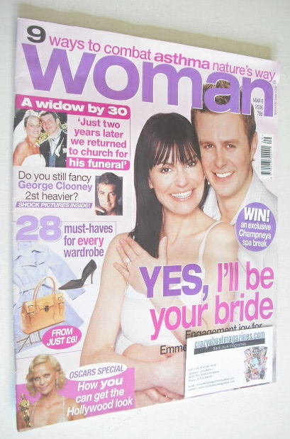 <!--2006-03-06-->Woman magazine - Tom Lister and Lucy Pargeter cover (6 Mar