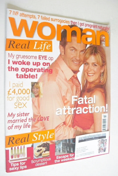 <!--2005-04-11-->Woman magazine - Bradley Walsh and Jane Danson cover (11 A