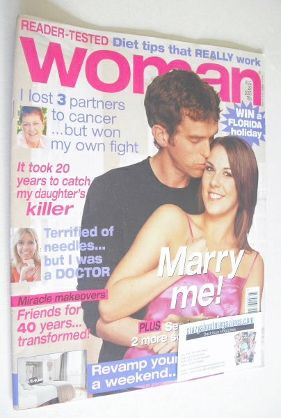 <!--2005-08-22-->Woman magazine - Mark Charnock and Verity Rushworth cover