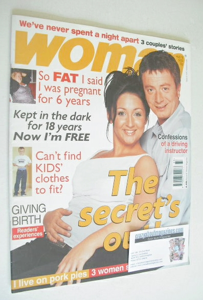 <!--2003-08-18-->Woman magazine - Sean Wilson and Lucy-Jo Hudson cover (18