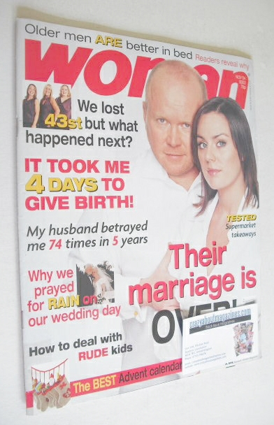 <!--2003-11-24-->Woman magazine - Jill Halfpenny and Steven McFadden cover