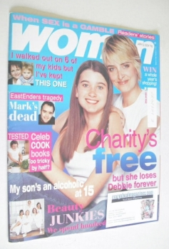 Woman magazine - Charley Webb and Emma Atkins cover (12 April 2004)