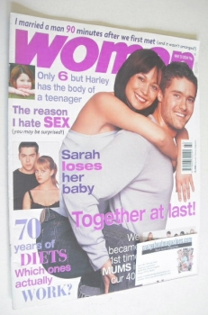 Woman magazine - Leah Bracknell and Ben Freeman cover (31 May 2004)