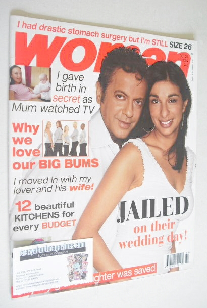 <!--2004-10-25-->Woman magazine - Shobna Gulati and Jimmi Harkishin cover (