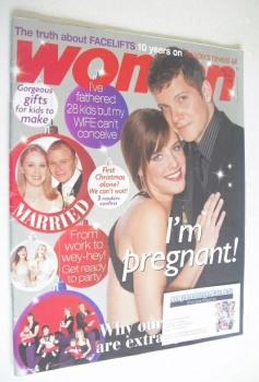 Woman magazine - Nigel Harman and Michelle Ryan cover (13 December 2004)