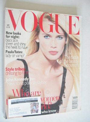 <!--1995-11-->British Vogue magazine - November 1995 - Claudia Schiffer cov