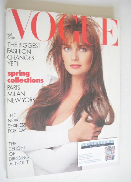 <!--1987-03-->British Vogue magazine - March 1987 - Paulina Porizkova cover