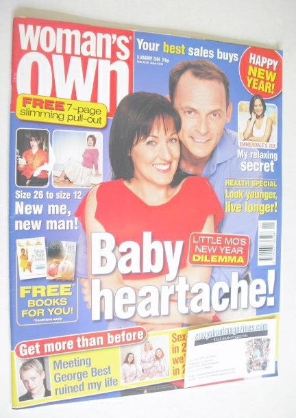 <!--2004-01-05-->Woman's Own magazine - 5 January 2004 - Kacey Ainsworth an