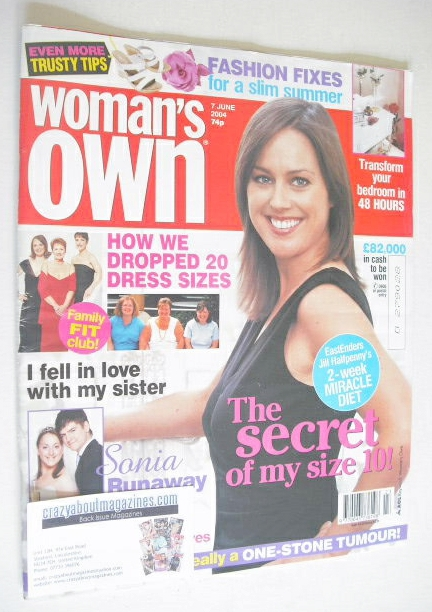 <!--2004-06-07-->Woman's Own magazine - 7 June 2004 - Jill Halfpenny cover