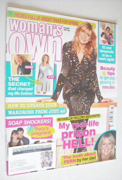 <!--2006-03-20-->Woman's Own magazine - 20 March 2006 - Michelle Collins co