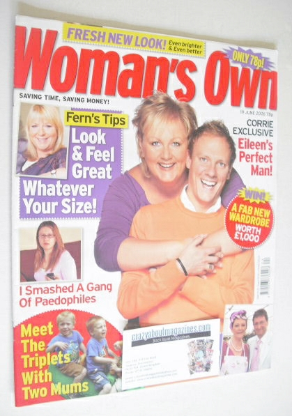 <!--2006-06-19-->Woman's Own magazine - 19 June 2006 - Sue Cleaver and Anto