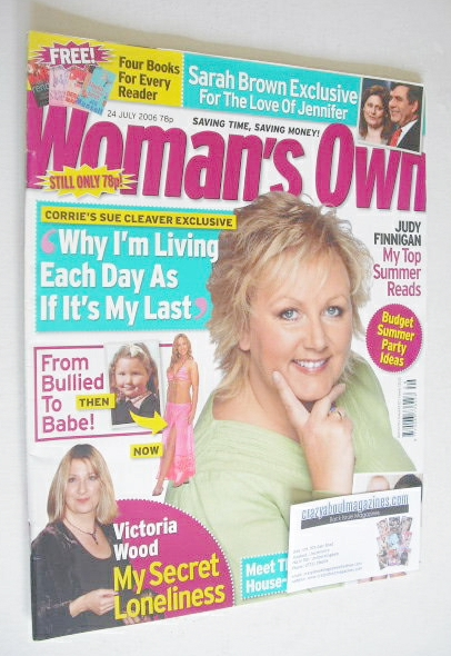 <!--2006-07-24-->Woman's Own magazine - 24 July 2006 - Sue Cleaver cover