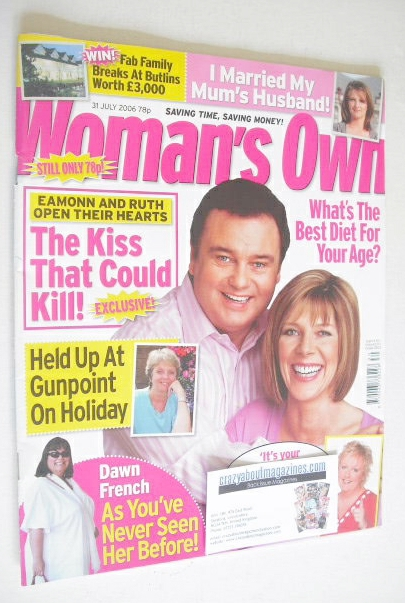 <!--2006-07-31-->Woman's Own magazine - 31 July 2006 - Eamonn Holmes and Ru