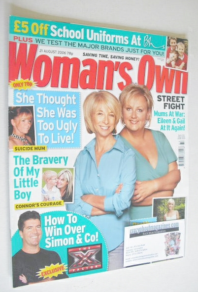 <!--2006-08-21-->Woman's Own magazine - 21 August 2006 - Sue Cleaver and He