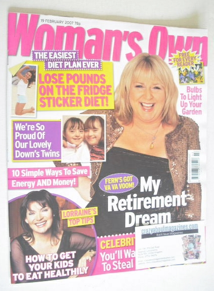 <!--2007-02-19-->Woman's Own magazine - 19 February 2007 - Fern Britton cov
