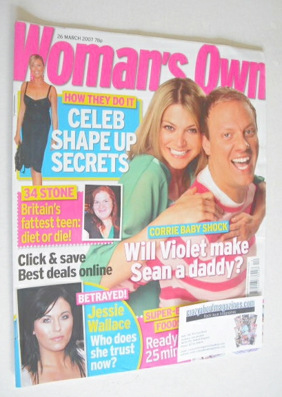 <!--2007-03-26-->Woman's Own magazine - 26 March 2007 - Antony Cotton and J