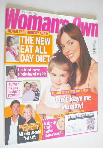 <!--2007-04-02-->Woman's Own magazine - 2 April 2007 - Kate Ford cover