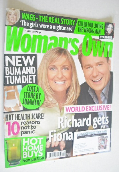 <!--2007-05-14-->Woman's Own magazine - 14 May 2007 - Richard Arnold and Fi