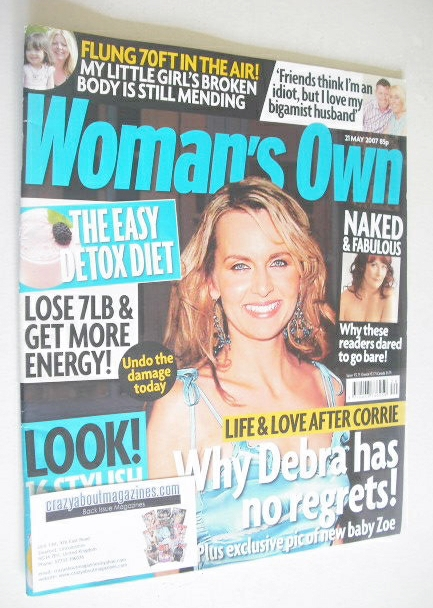 <!--2007-05-21-->Woman's Own magazine - 21 May 2007 - Debra Stephenson cove