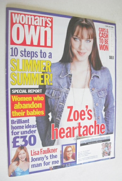 <!--2002-05-06-->Woman's Own magazine - 6 May 2002 - Michelle Ryan cover