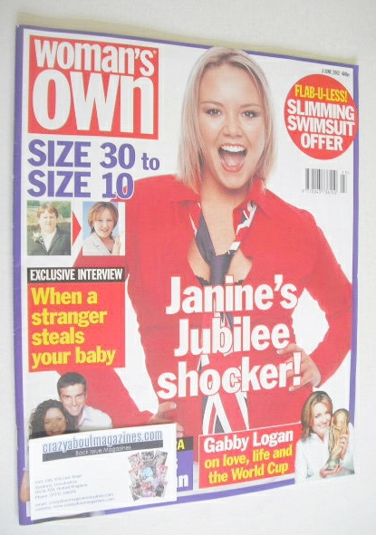 <!--2002-06-03-->Woman's Own magazine - 3 June 2002 - Charlie Brooks cover