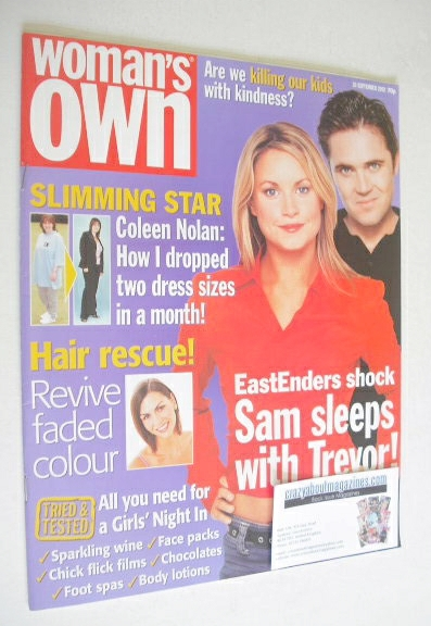 <!--2002-09-30-->Woman's Own magazine - 30 September 2002 - Kim Medcalf and