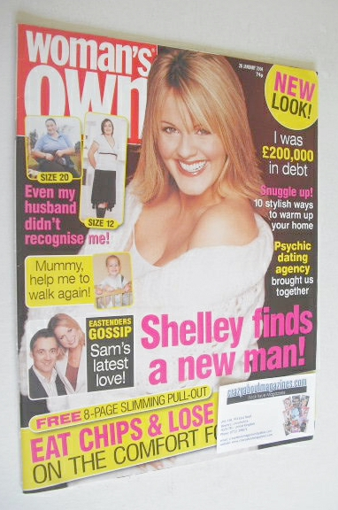 <!--2004-01-26-->Woman's Own magazine - 26 January 2004 - Sally Lindsay cov