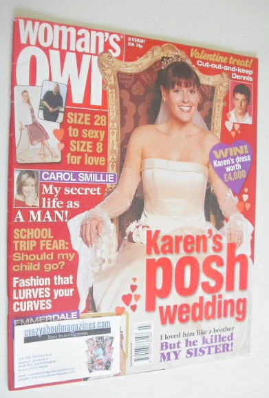 <!--2004-02-16-->Woman's Own magazine - 16 February 2004 - Suranne Jones co