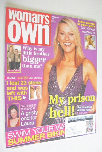 <!--2004-04-26-->Woman's Own magazine - 26 April 2004 - Zoe Lucker cover