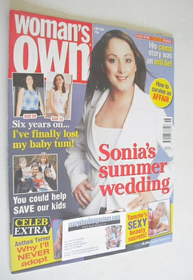<!--2004-05-03-->Woman's Own magazine - 3 May 2004 - Natalie Cassidy cover
