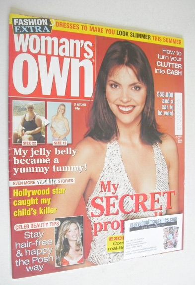 <!--2004-05-17-->Woman's Own magazine - 17 May 2004 - Kate Ford cover