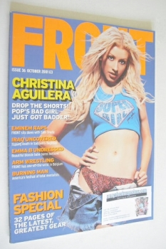 Front magazine - Christina Aguilera cover (October 2001)