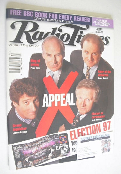 <!--1997-04-26-->Radio Times magazine - Election 97 cover (26 April-2 May 1