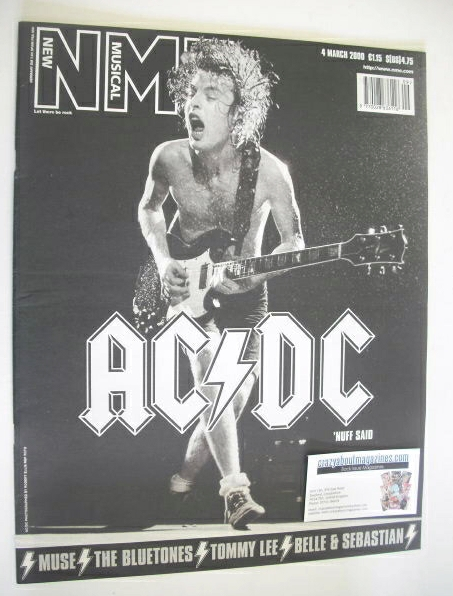 <!--2000-03-04-->NME magazine - Angus Young cover (4 March 2000)