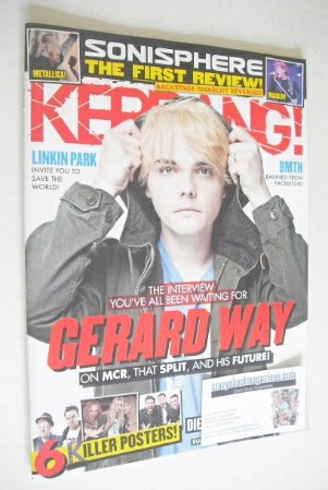 <!--2014-07-12-->Kerrang magazine - Gerard Way cover (12 July 2014 - Issue