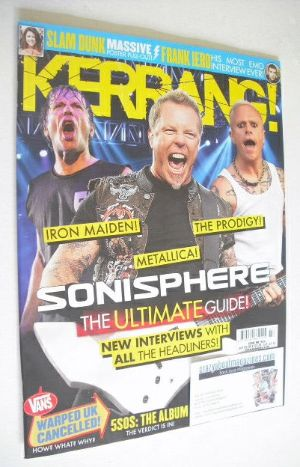 <!--2014-07-05-->Kerrang magazine - Sonisphere cover (5 July 2014 - Issue 1