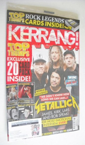 <!--2014-06-28-->Kerrang magazine - Metallica cover (28 June 2014 - Issue 1