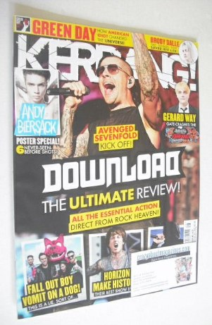 <!--2014-06-21-->Kerrang magazine - Download Ultimate Review cover (21 June