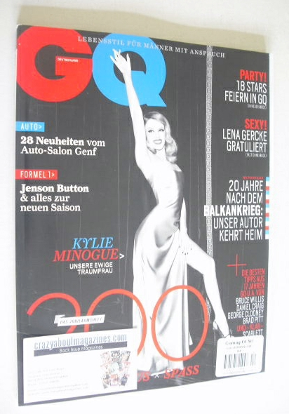 <!--2014-04-->German GQ magazine - April 2014 - Kylie Minogue cover